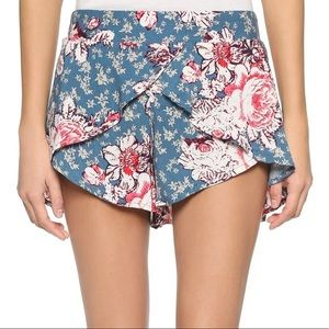 Free People Floral Crossover Shorts Size XS
